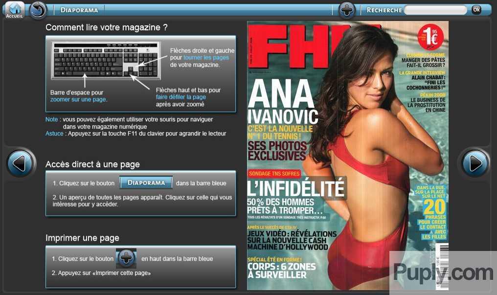 Magazine FHM en lecture